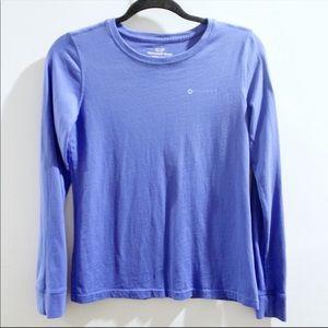 Vineyard Vines Blue Long Sleeve Logo Top